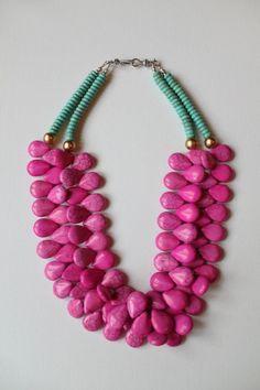 """Drop-dead gorgeous """"Audrey Necklace"""" from Zolie Designs."""