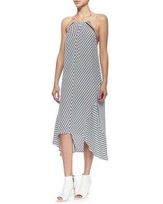 Tilde Striped Maxi Dress $390 #RedWhiteAndBlue #ImpossiblyImperfect