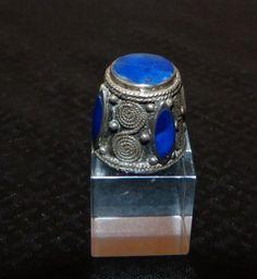 Antiker FINGERHUT Silber Mit Lapislazuli Aus Indien Prächtiges STÜCK Top   eBay Oct 03, 2013 / EUR 22.50