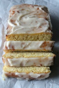 This sweet and tangy lemon bread with vanilla glaze is made with wholesome ingredients, and I've been told by a certain Starbucks Lemon Loaf lover that's it's just as satisfying as store-bought.