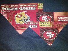 San Francisco 49ers Dog Bandanas by DogGoneGoodBandanas on Etsy, $7.00