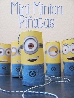 mini minion pinatas ready to party