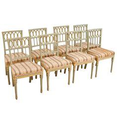 1stdibs | Set of Eight Swedish Late Gustavian Dining Chairs
