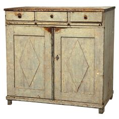 Early 19th Century Gustavian Sideboard with Diamond Detail