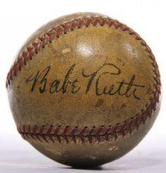 images of babe ruth | Babe Ruth Signed Baseball