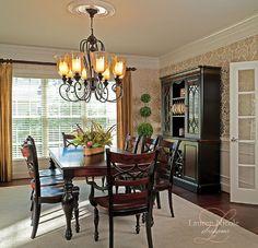 Lauren Nicole Designs | Dining Room Interior Design Charlotte NC Weddington