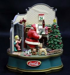 Vintage-1994-Coca-Cola-Christmas-Musical-Collection-DEAR-SANTA-Motion-Figurine
