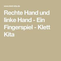 Rechte Hand und linke Hand - Ein Fingerspiel - Klett Kita