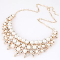 Destination for fashion jewelry online - Pearl short necklace - Pendants and Necklaces