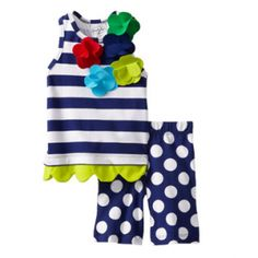 Mud Pie Baby-Girls Newborn Boathouse Tunic and Crop Legging  $34.99  Like our fan page at www.facebook.com/lovebabyclothes