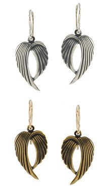 Winged Victory Earrings, by Peggy Li Creations. Simple angel wing earrings!