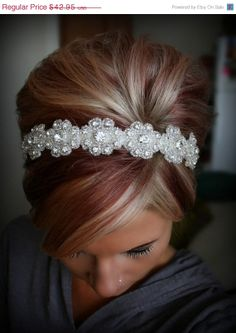 ON SALE Bridal Headband Wedding Headpiece Rhinestone by BrassLotus, $38.66 For more wedding inspiration please visit www.lolabeeandme.com