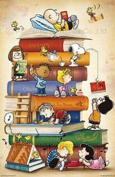 Charlie Brown Snoopy & The Peanuts Gang Peanuts Gang, Peanuts Cartoon, Cartoon Cartoon, Comics Peanuts, Reading Cartoon, Snoopy Love, Charlie Brown Et Snoopy, Snoopy And Woodstock, Meu Amigo Charlie Brown