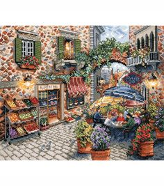 Design Works Counted Cross Stitch Picture Kit Sidewalk Caf