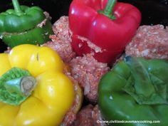 Stuffed Peppers | Civilized Caveman Cooking Creations from www.CivilizedCavemancooking.com. #paleo #crockpot #civilizedcaveman