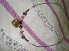 Sweet Lolita Gold Tone Heart Charm Small Stones by Hunnalula