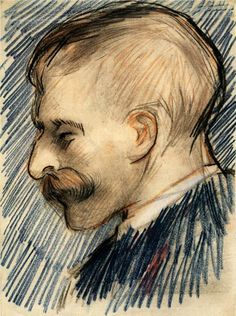 Head of a Man (Possibly Theo van Gogh) - Vincent van Gogh - WikiPaintings.org