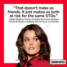 Mellie, 'Scandal' // Mellie is so heinous, but she's one of my favorite characters on Scandal.