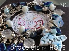 Beautiful bracelet donated to the 7K 'Bracelets for Hope' campaign