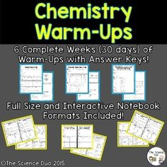 Force and Motion Warm-Ups. This resource contains 6 complete weeks days) of Warm-Ups relating to Force and Motion concepts. Teaching Science, Life Science, Science Lessons, Teaching Resources, Chemistry Lessons, Teaching Themes, Science Resources, Science Ideas, Classroom Resources