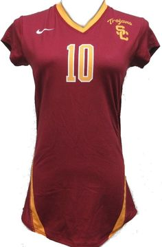 Nike Dri Fit USC Trojans Volleyball Jersey #10 Langham Womens Medium NCAA #Nike #USCTrojans