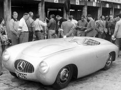 Vintage Mercedes 300 SLR Sports Car Race