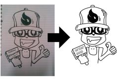 Ching Ching! create your sketch into a vector image, the image is clean and clear [Guaranteed]