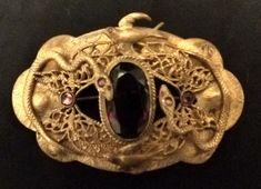 Старинный/винтажный викторианской эпохи модерн фиолетовый камни пояс булавка змеи птицы butterflie   eBay