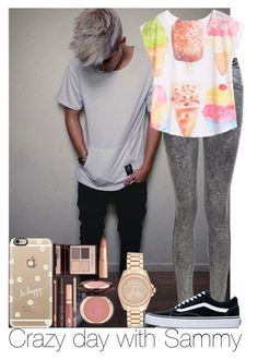 """Crazy day with Sammy"" by irish26-1 ❤ liked on Polyvore featuring Casetify, Charlotte Tilbury, Vans and Michael Kors"