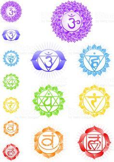 Чакры символы Сток Вектор Стоковая фотография