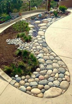 35 lovely rock garden landscaping ideas not every landscape is perfect and having a rock garden can help in many of those areas you might have an area that is just too shaded and you can t gorgeous front yard landscaping ideas 23023 Backyard Garden Landscape, Garden Paths, Garden Art, Garden Beds, House Landscape, Fence Garden, Garden Borders, Gravel Garden, Garden Shrubs
