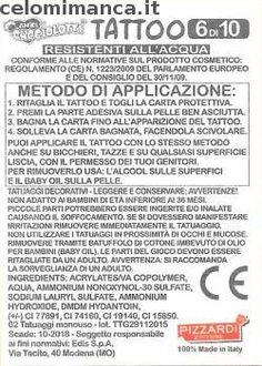 Amici Cucciolotti 2016: Retro Figurina n. TP6 Tatuaggio Premiolotto n.6
