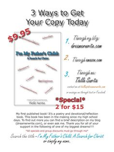 Poetry/Devotional Book- I'm My Father's Child: A Search for Christ by Tielle Surita