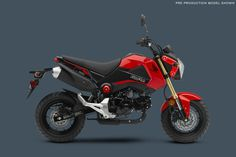 Honda Grom Review and Price : New Colors Of 2015 Honda Grom With Red Combined With Black