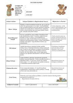 1-donem-gelisim-raporu-ornegi-1 Kindergarten, Google, Chop Saw, Picasa, Kindergartens, Preschool, Preschools, Pre K, Kindergarten Center Management