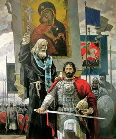 A Byzantine general with an Orthodox priest before the battle. The Army and the Orthodox Church still are two pillars of Greeks society Byzantine Army, Orthodox Priest, Empire Romain, Templer, Knights Templar, Medieval Art, Russian Art, Roman Empire, Middle Ages