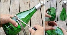 Instead of re-cycling all those glass bottles, try reusing them! Below are 10 easy and creative ways you can reuse your glass bottles. First, you need to (safely) learn to cut your bottles: Now you can start these amazing projects! 1. Glass Bottle Candles (via) Top Dreamer 2. Toothbrush Holder (via) Arts of Home 3.Glass Bottle Christmas Lights (via) Cut Out and Keep 4. Glass Bottle Hanging Garden (via) Pin Cookie 5. Bottle Chandelier (via) TVNT 6. Re-cycled Bottle Fence (via) Top Dreamer…