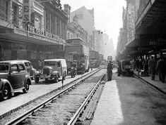 Pitt St,Sydney in 1949. •Fairfax Archives•