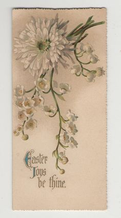Antique Easter Joys Religious Greeting Card by fromjanet
