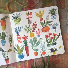 SUCCULENTS on todays pinning. see more on my Instagram feed at carolynj. Designed by Carolyn gavin Sketchbook Inspiration, Art Sketchbook, Painting Inspiration, Watercolor Illustration, Watercolor Paintings, Watercolors, Cactus Art, Motif Floral, Illustrations