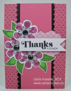 card by Carla Ironside using CTMH Chantilly paper