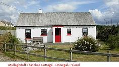 Mullaghduff Thatched Cottage, nr Kincasslagh, Donegal, on the Wild Atlantic Way - UPDATED 2020 - Holiday Rental in Kincasslagh - Tripadvisor Scottish Cottages, Irish Cottage, Thatched Roof, Bedroom With Ensuite, Donegal, Outdoor Dining, Dining Area, Little Houses, Trip Advisor