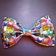 Adventure time print handmade fabric bow tie or by Bowliciousdivas, $6.00