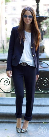 Tory Birch suit dressed down.  Perfect for casual Friday.