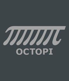 """""""Octopi"""" t-shirt.  Funny pi shirts.  Math and science shirts from SnorgTees."""