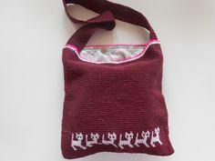 #Crochet #cat #bag with neon pink edging