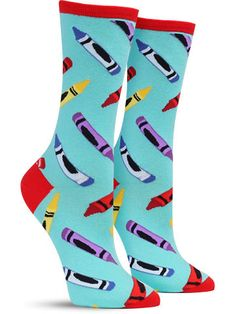 Slip on this cool socks and feel inspired to create one of your iconic, unique, doodles. Funky Socks, Crazy Socks, Colorful Socks, Silly Socks, Happy Socks, Grumpy Cat Quotes, Gamine Style, Clothing Blogs, Novelty Socks