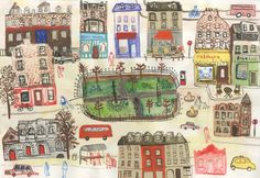 """Nicolson Square Gardens"" // Edinburgh // pull out map by Maisie Shearring"