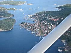 Aerial view of Sandhamn - The Stockholm Archipelago