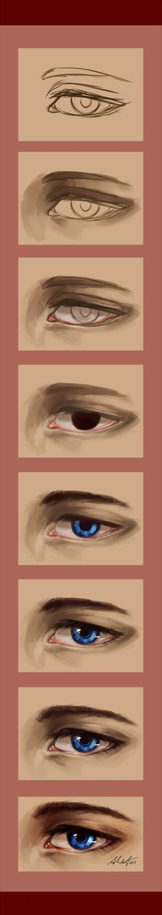 Semi-Realistic Eye Process by Chyal on DeviantArt